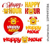 happy hour design elements set... | Shutterstock .eps vector #1099495586