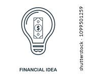 financial idea icon. flat style ...
