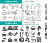hotel service simple and line... | Shutterstock .eps vector #1099507856