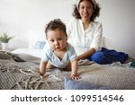healthy active infant with... | Shutterstock . vector #1099514546