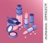 vector isometric cosmetics... | Shutterstock .eps vector #1099515179
