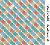 retro pattern of rhombus shapes.... | Shutterstock .eps vector #1099519550
