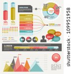 set elements of infographics | Shutterstock .eps vector #109951958