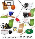 sports symbols icons collection.... | Shutterstock .eps vector #1099519580