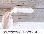 painted wooden surface. white... | Shutterstock . vector #1099522370