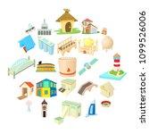 facility icons set. cartoon set ... | Shutterstock .eps vector #1099526006