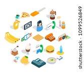 brunch icons set. isometric set ... | Shutterstock .eps vector #1099526849