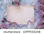 purple roses on a colored... | Shutterstock . vector #1099533248