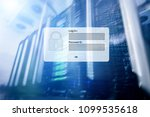 server room  login and password ... | Shutterstock . vector #1099535618