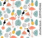 tropical seamless pattern  ... | Shutterstock .eps vector #1099540466