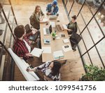 top view outgoing partners... | Shutterstock . vector #1099541756
