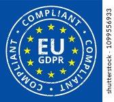 eu gdpr compliant label... | Shutterstock .eps vector #1099556933