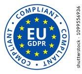 eu gdpr compliant label... | Shutterstock .eps vector #1099556936