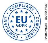 eu gdpr compliant label... | Shutterstock .eps vector #1099556939