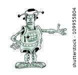 fantastic robot resembling a... | Shutterstock . vector #109955804