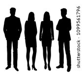 set vector silhouettes men and... | Shutterstock .eps vector #1099561796