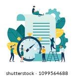 vector illustration  clock with ... | Shutterstock .eps vector #1099564688