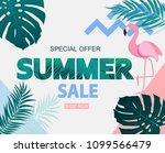abstract tropical summer sale... | Shutterstock .eps vector #1099566479