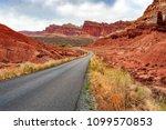scenic drive in capitol reef... | Shutterstock . vector #1099570853