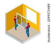 isometric installation of... | Shutterstock .eps vector #1099571489