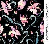 floral seamless pattern. flower ... | Shutterstock .eps vector #1099576496