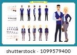 business man and woman... | Shutterstock .eps vector #1099579400