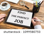 find the perfect job concept on ... | Shutterstock . vector #1099580753