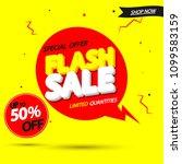 flash sale  banner design...   Shutterstock .eps vector #1099583159