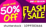 flash sale  50  off  special... | Shutterstock .eps vector #1099583666