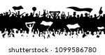 crowd enthusiastes silhouettes. ... | Shutterstock .eps vector #1099586780
