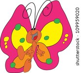 happy and colorful butterfly... | Shutterstock .eps vector #109959020