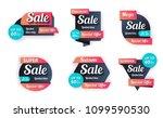set of sale banners design.... | Shutterstock .eps vector #1099590530