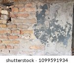 cracked concrete vintage brick... | Shutterstock . vector #1099591934