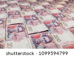 modern ukrainian money... | Shutterstock . vector #1099594799