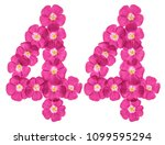 arabic numeral 44  forty four ... | Shutterstock . vector #1099595294