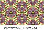 vector patchwork quilt seamless ... | Shutterstock .eps vector #1099595378