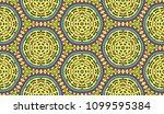 vector patchwork quilt seamless ... | Shutterstock .eps vector #1099595384