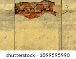 vintage damaged wall background | Shutterstock . vector #1099595990