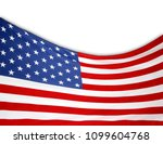 closeup of american flag on... | Shutterstock . vector #1099604768