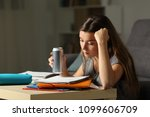 student preparing exam... | Shutterstock . vector #1099606709