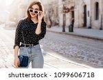 outdoor portrait of yong...   Shutterstock . vector #1099606718