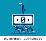 business team working together. ... | Shutterstock .eps vector #1099606910