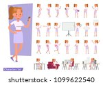 set of office woman character... | Shutterstock .eps vector #1099622540