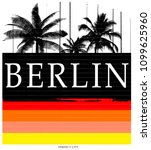 berlin typography tee graphic... | Shutterstock .eps vector #1099625960