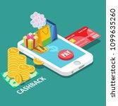cash back or money refund... | Shutterstock .eps vector #1099635260