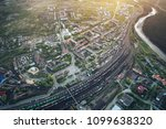 junction railway station with... | Shutterstock . vector #1099638320