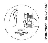 world no tobacco day isolated... | Shutterstock .eps vector #1099641539