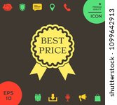 best price label icon with... | Shutterstock .eps vector #1099642913