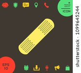 medical  plaster  adhesive... | Shutterstock .eps vector #1099645244