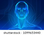 robot or human body enhancement.... | Shutterstock .eps vector #1099653440